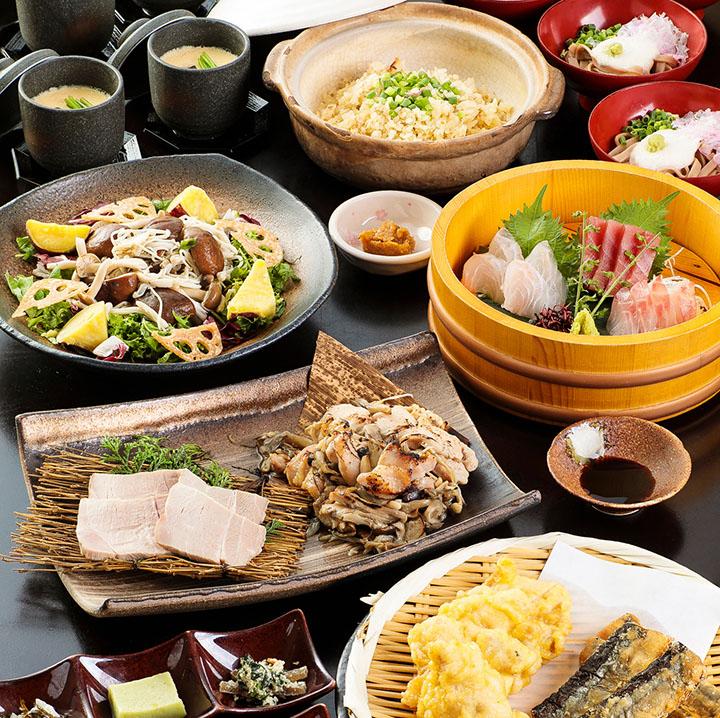 季節の鮮魚と長州どりの宴 2.5時間飲み放題付 全8品 5,000円(税込)