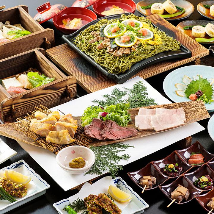 県産ブランド松永牛と旬海鮮の宴 2.5時間飲み放題付 全9品 8,000円(税込)