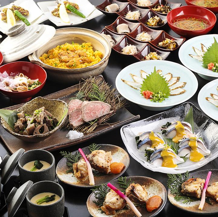 県産ブランド肉と山口ゆかりの海鮮の宴 2.5時間飲み放題付 全11品 8,000円(税込)