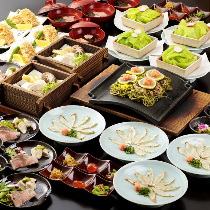 県産ブランド肉と山口海鮮の宴 2.5時間飲み放題付 全11品 8,000円(税込)