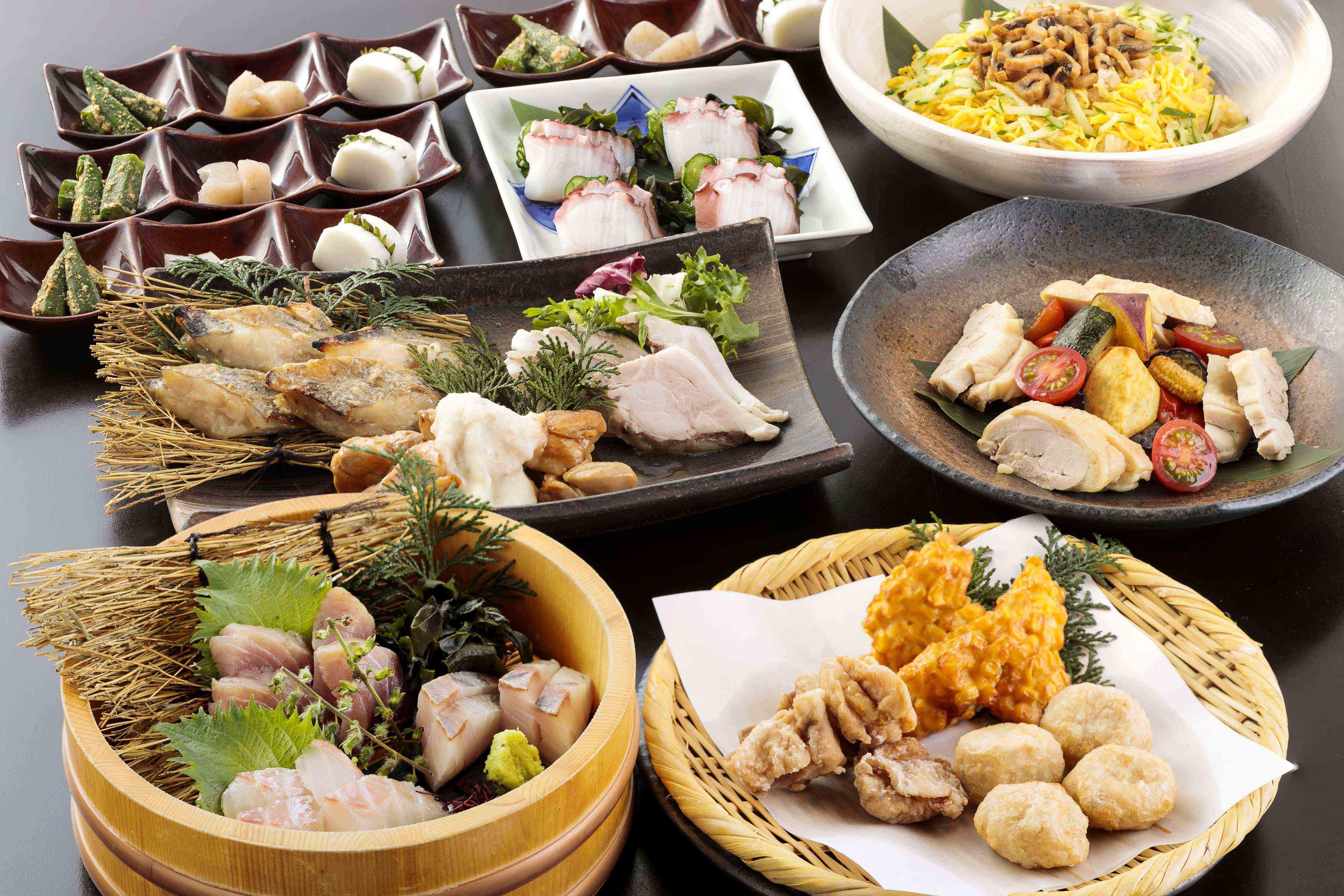 季節の鮮魚と長州どりの宴 2.5時間飲み放題付 全7品 5,000円(税込)